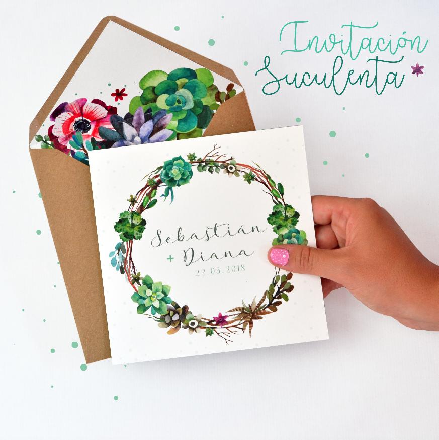 Invitacion Suculenta