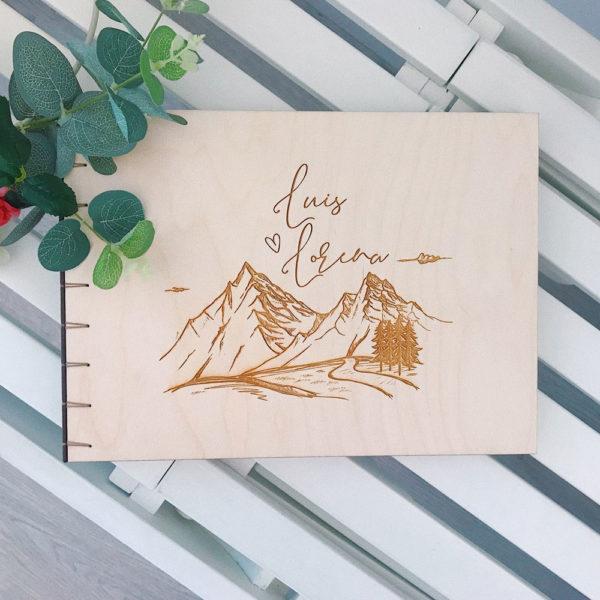 libro firmas madera