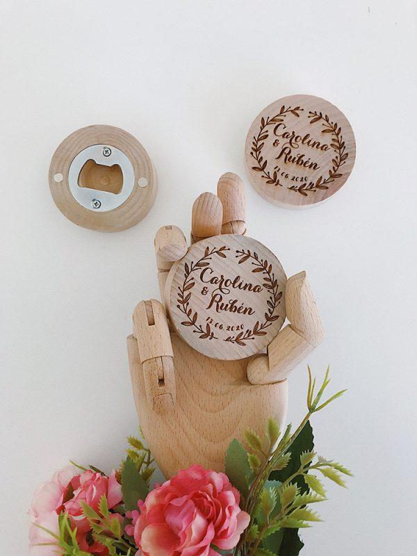 abridores madera boda