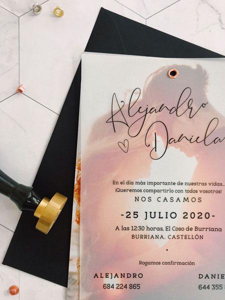 invitacion original boda