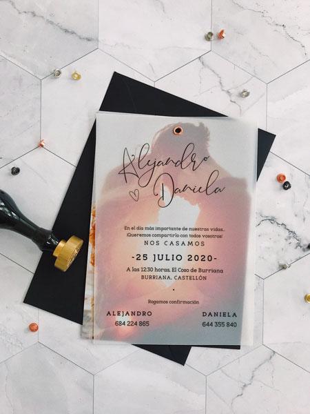 invitacion foto boda